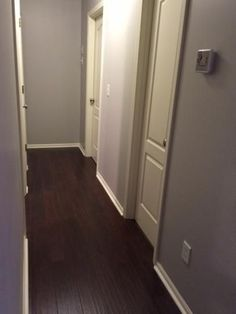 Dark Brown Wood Laminate Flooring Hampton Bay Hand-Scraped Canyon Grenadillo (Apartment)
