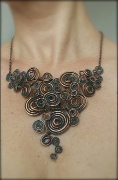 Copper necklace by Francesca Bogoni