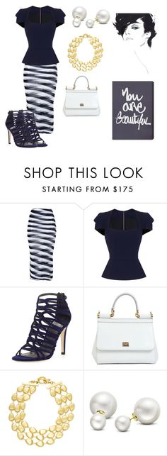 """""""You are beautiful"""" by catsmeow ❤ liked on Polyvore featuring STELLA McCARTNEY, Roland Mouret, Stuart Weitzman, Dolce&Gabbana, Rivka Friedman, Allurez and Oliver Gal Artist Co."""