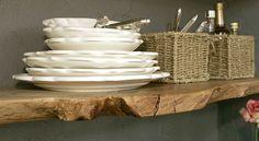 ruw houten legplank