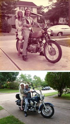 33 Couple Pictures That Prove Love Can Be Forever Couple In Love, Sweet Couple, Old Couples, Cute Couples, Old Photos, Vintage Photos, 17 Kpop, Then And Now Photos, Photo Recreation