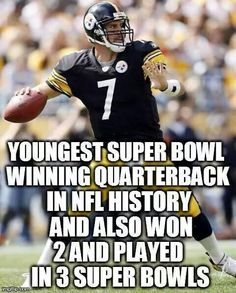 great quarterback, but he still ain't no BRADSHAW Steelers Meme, Steelers Raiders, Steelers Pics, Here We Go Steelers, Steelers Stuff, Pittsburgh Steelers Football, Pittsburgh Sports, Best Football Team, Pittsburgh Penguins