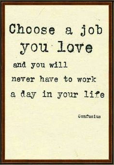 choose a job you love
