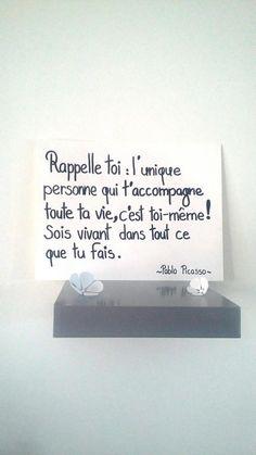 affiche citation Pablo Picasso affiche illustrée