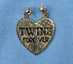 Twins Quotes | Twins Forever Gold Pendant 10031 | TWINS FOREVER
