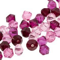 5328 4mm Swarovski Elements Crystal Mix - Cherry Blossom   Fusion Beads