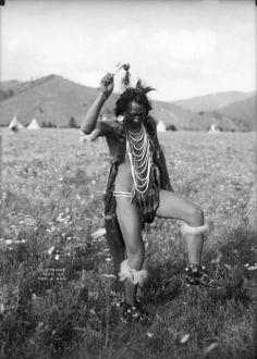 Joe Vanderburg (also knwn as Yellow Rock). Salish Tribe. Flathead Indian Reservation, Montana. cir 1906.  EDWARD H. BOOS collection  Denver Public Library