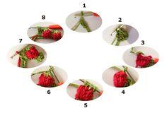 """Point de Crochet """"Strawberry"""" - Tutorials - Crochet et plus.Crochet et plus… Love Crochet, Crochet Motif, Crochet Flowers, Crochet Stitches, Knit Crochet, Easy Crochet Patterns, Knitting Patterns, Tutorial Crochet, Crochet Crafts"""