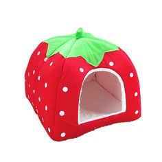 New Pet Product Cat House Bed Foldable Soft Winter Leopard Dog Bed Strawberry Cave Dog House Kennel Nest Dog Fleece Cat Bed Bunny Supplies, Dog Supplies, Puppy Beds, Pet Beds, Indoor Rabbit House, Niche Chat, Canis, Cat Kennel, Puppy Kennel