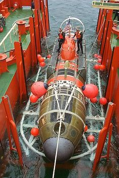 DSRV-2 Avalon is a Mystic class Deep Submergence Rescue Vehicle that is rated to dive up to 5000 feet (1500 m). The submarine was acquired in response to the loss of the USS Thresher so that the Navy would have a way to rescue submarine crews trapped far beneath the ocean surface.