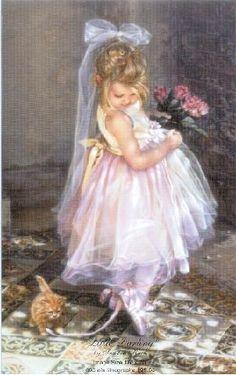 Ballerina painting by Sandra Kuck My favorite artist She And Her Cat, Art Aquarelle, Illustration Art, Illustrations, Jackson Pollock, Keith Haring, Cute Animal Pictures, Vintage Children, Art Children