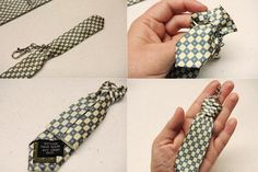 Recycle the skinny end of old ties to make key rings. Jw Gifts, Craft Gifts, Key Crafts, Pioneer Gifts, Diy Keychain, Keychains, Make Keys, Fathers Day Crafts, Creative Pictures
