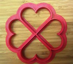 Valentine - 4 Hearts Cookie Cutter - Choice of Sizes - 3D Printed Plastic #Handmade3DPrint