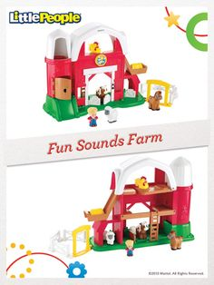 Little farmers will love to moo and cluck along with the Little People Fun Sounds Farm! #FisherPrice #Toys