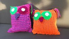 Uilen kussens gemaakt door Merel Maris en Anne Maris onder begeleiding van Atelier Naaiz11.