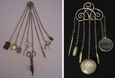 Obsolete Fashion, chatelaine, equipage, 18th century, 19th century woman