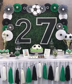 soccer party tablescape background party decorations