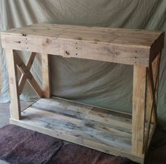 What a great way to have some extra storage space in your kitchen. Dimensions are 40x36x24. *Also pictured is a smaller version used as a desk.