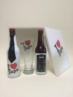 Cerveza Monfragüe Pack I ❤️ Papa. Monfragüe E.E. Día del Padre 2M15. Con 2 Cervezas I ❤️Papa estiló Belga Strong Ale y una baso grabado.