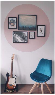 Living Room Decor, Bedroom Decor, Wall Decor, Bedroom Wall Designs, Bedroom Ideas, Dining Room, Room Wall Painting, Pink Walls, Home Decor Inspiration