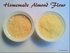 How to make Almond Flour at home, homemade almond powder/flour.  Learn how to blanch almonds and make almond flour or powder at home with easy steps.