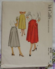 McCalls 8702 1950's skirt with patch pockets