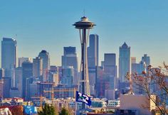 Downtown Seattle 1/24/14. Waiting for the Superbowl.  Photo: Dan Lewis KOMO TV News.