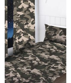 Army Camouflage Lined Curtains Curtain Rails, Lined Curtains, Camouflage Wallpaper, Denmark Street, Army Camouflage, Notes Design, Pencil Pleat, Duvet Covers, Drop