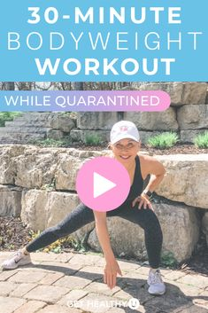 Get a full body workout with this at-home Bodyweight HIIT Workout with NO EQUIPMENT!! This 30-minute bodyweight workout adheres to a typical Tabata HIIT style workout: working intervals of 30 seconds followed by 10 seconds of rest! Grab your sweat towel and water bottle, press 'play' and follow along with this guided workout video. Beginner Workout At Home, Step Workout, 30 Minute Workout, Body Weight, Weight Loss, Easy Workouts, Total Body, Full Body, Hiit