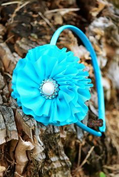 MORE COLORS Boutique Style BlueTurquoise Headband by CutieCouture4u on Etsy, $7.85