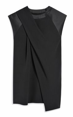 Alexander Wang Draped Neck Muscle Tee.   This is a great blouse with it's unique asymmetric style.