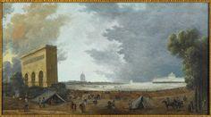 Hubert Robert | Fête de la Fédération Nationale célébrée au Champ de Mars à Paris le 14 juillet 1790 | Images d'Art