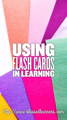 Using flash cards in learning will give a variation in learning. This post is hopefully to give inspiration about using flash cards in learning.