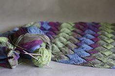 Cotton scarf hand knit scarf knit shawl scarf by KnitwearFactory, $105.00