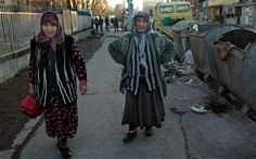 Ladies in the Stolipinovo district of Plovdiv, Bulgaria (DAVID ROSE FOR THE TELEGRAPH)