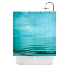 69 by 70-Inch Kess InHouse Robin Dickinson Change is Beautiful Teal Red Shower Curtain