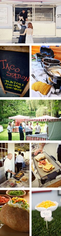 Things We Love - Creative Food Stations - My Wedding Reception Ideas | Blog