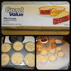 Attempting my first chicken Pot pie tonight! Individual Homemade Chicken Pot Pies with pie crust Homemade Chicken Pie, Easy Chicken Pot Pie, Cream Of Chicken Soup, Chicken Recipes, Mini Caramel Apples, Good Food, Yummy Food, Pastel, Pot Pies