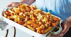 Have dinner on the table in just 30 minutes with this cheesy, pumpkin and tuna pasta bake.