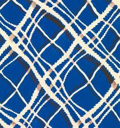 An exclusive reproduction of a Parisian textile design from Atelier Zina de Plagny, 1940s-1950s.  Code: AZP0014