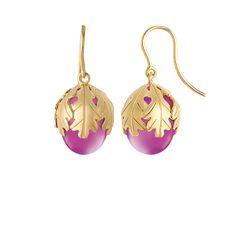 Peony Murmure Wire Earrings - Baccarat Earrings - Fine Crystal Jewelry Earrings