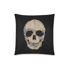 The Living Skull Custom Zippered Pillow Case 18 Cushions, Pillows, Pillow Cases, Twin, Skull, Zipper, Character, Art, Throw Pillows