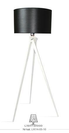 Lampa sztalugowa stojąca LIGHTWOOD biała LW14