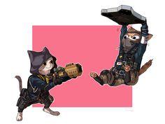 Hibana and Echo cat by shurueder