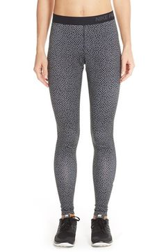Small - Nike 'Pro Warm' Print Tights available at #Nordstrom