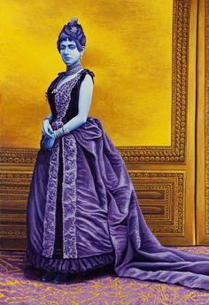 Contessa Lucia Amman 2010, olio su lino, cm 160x110 (da fotografo non identificato, 1880).
