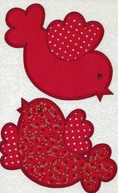 Bird Applique, Applique Quilts, Paper Flowers Craft, Flower Crafts, Hand Embroidery Patterns, Quilt Patterns, Free Applique Patterns, Alcohol Ink Crafts, Bird Quilt