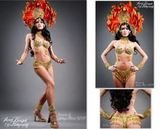 """""""Fleur """" Samba Costume"""