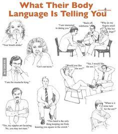 read male body language