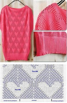 best Ideas for crochet baby girl patterns free heart Cable Knitting Patterns, Crochet Poncho Patterns, Lace Knitting, Knitting Stitches, Baby Girl Patterns, Crochet Baby Booties, Filet Crochet, Pulls, Couture